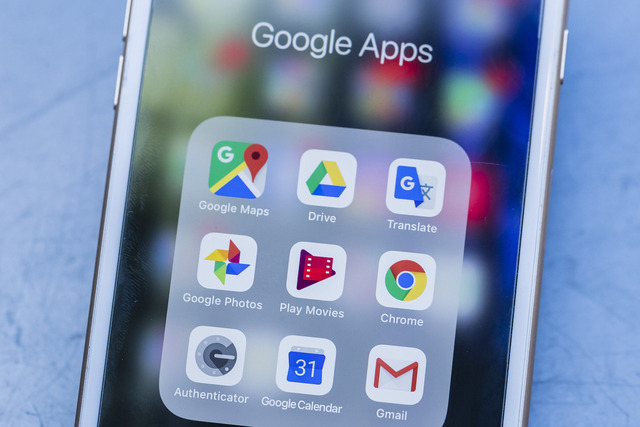 Tela de celular com apps do G Suite