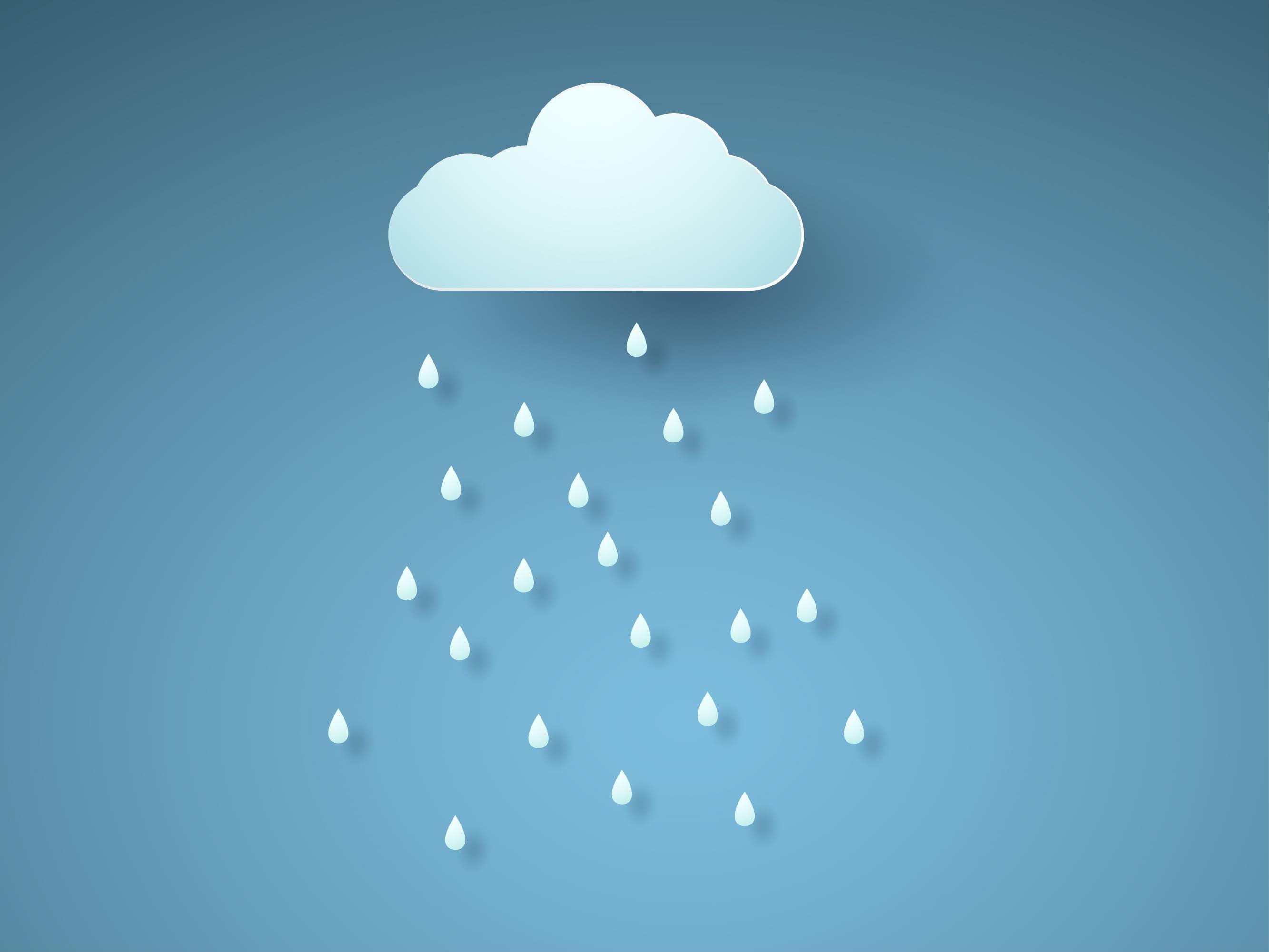 Nuvem com gotas de chuva